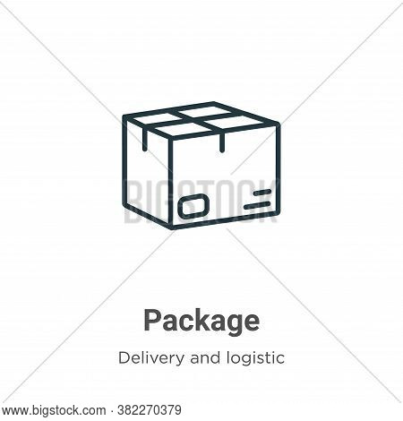 Package icon isolated on white background from delivery and logistic collection. Package icon trendy