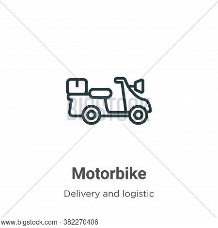 Motorbike icon isolated on white background from delivery and logistic collection. Motorbike icon tr