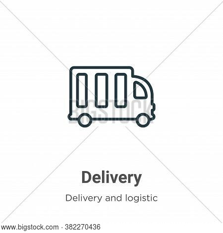 Delivery icon isolated on white background from delivery and logistic collection. Delivery icon tren