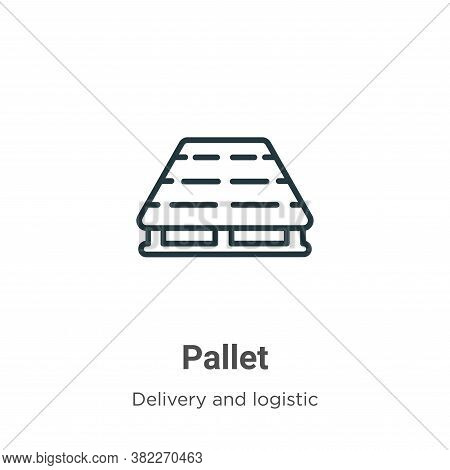 Pallet icon isolated on white background from delivery and logistic collection. Pallet icon trendy a