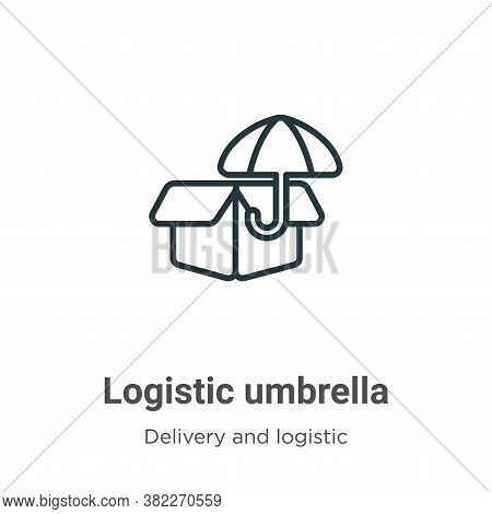 Logistic umbrella icon isolated on white background from delivery and logistics collection. Logistic
