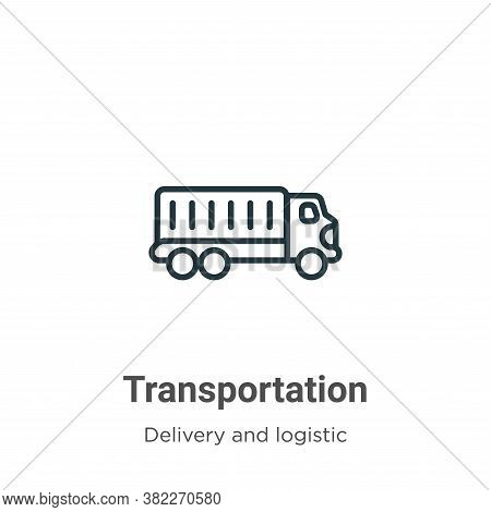 Transportation icon isolated on white background from delivery and logistics collection. Transportat