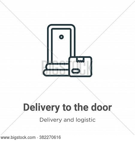 Delivery to the door icon isolated on white background from delivery and logistics collection. Deliv