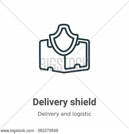 Delivery shield icon isolated on white background from delivery and logistics collection. Delivery s