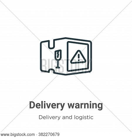 Delivery warning icon isolated on white background from delivery and logistics collection. Delivery