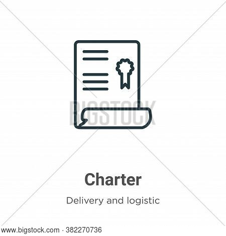 Charter icon isolated on white background from delivery and logistics collection. Charter icon trend