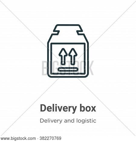 Delivery box icon isolated on white background from delivery and logistics collection. Delivery box