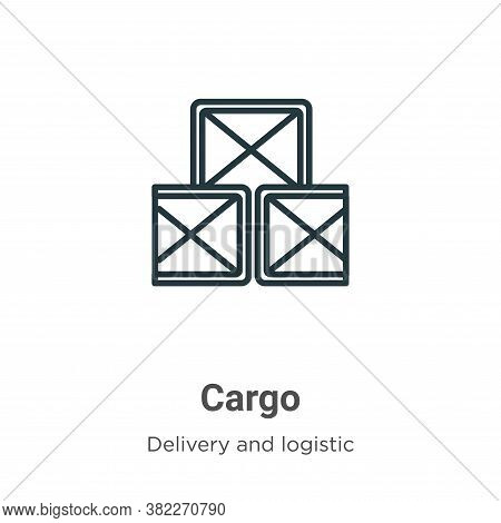 Cargo icon isolated on white background from delivery and logistics collection. Cargo icon trendy an