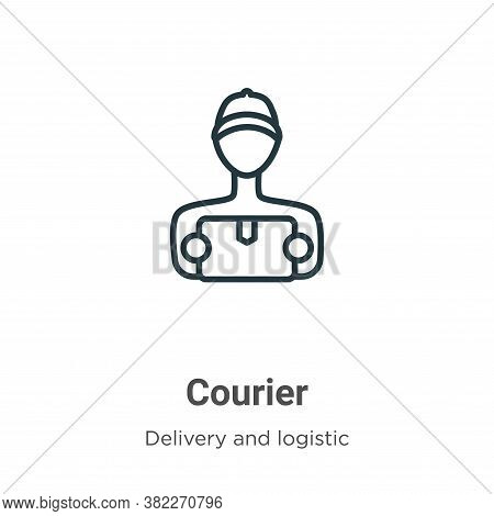 Courier icon isolated on white background from delivery and logistics collection. Courier icon trend