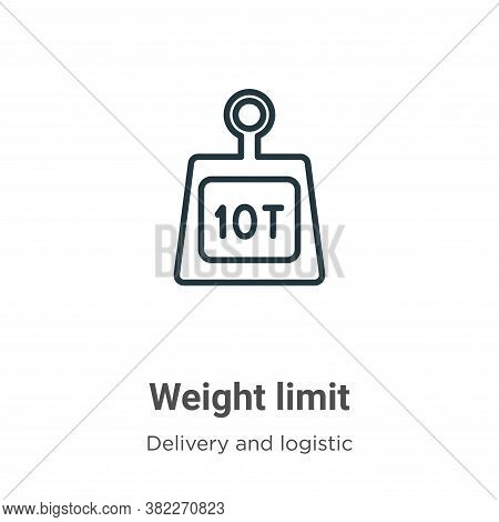 Weight Limit Icon From Delivery And Logistics Collection Isolated On White Background.