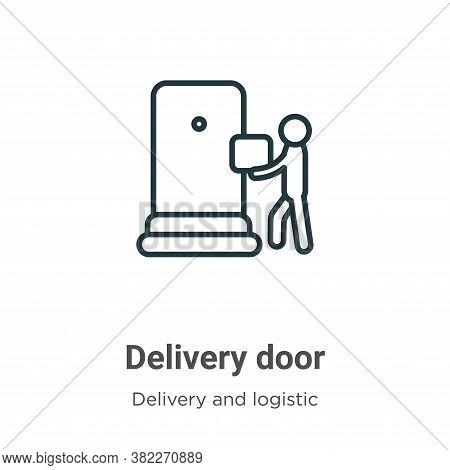Delivery door icon isolated on white background from delivery and logistics collection. Delivery doo