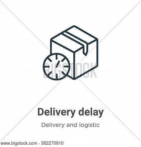 Delivery delay icon isolated on white background from delivery and logistics collection. Delivery de
