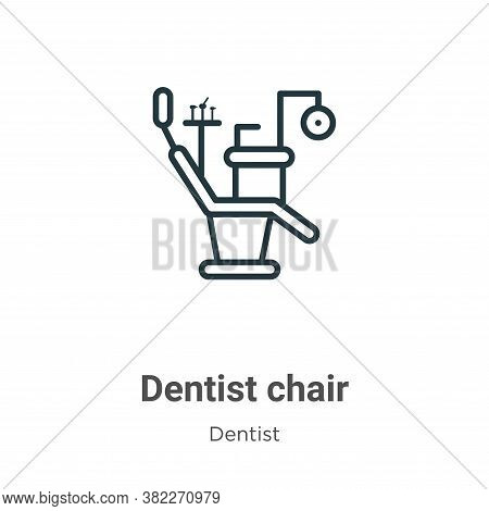 Dentist chair icon isolated on white background from dentist collection. Dentist chair icon trendy a