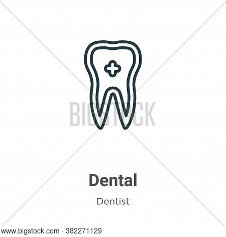 Dental icon isolated on white background from dentist collection. Dental icon trendy and modern Dent