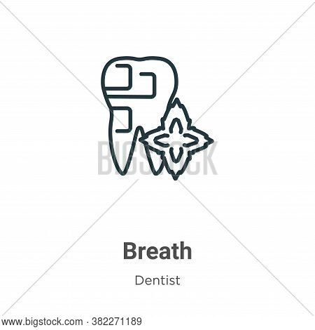 Breath icon isolated on white background from dentist collection. Breath icon trendy and modern Brea