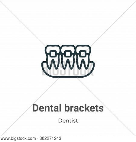 Dental brackets icon isolated on white background from dentist collection. Dental brackets icon tren