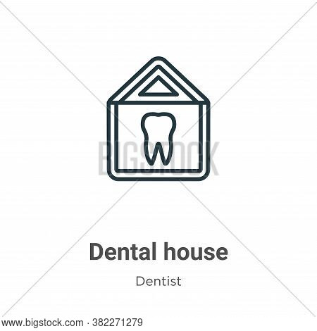 Dental house icon isolated on white background from dentist collection. Dental house icon trendy and