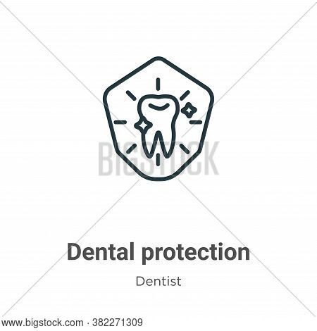 Dental protection icon isolated on white background from dentist collection. Dental protection icon