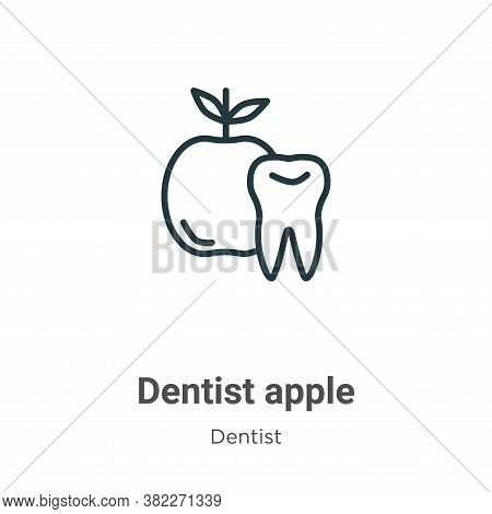 Dentist apple icon isolated on white background from dentist collection. Dentist apple icon trendy a
