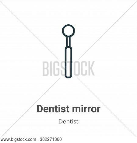 Dentist mirror icon isolated on white background from dentist collection. Dentist mirror icon trendy