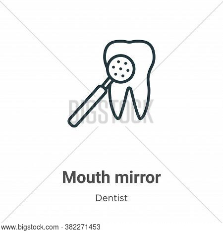 Mouth mirror icon isolated on white background from dentist collection. Mouth mirror icon trendy and