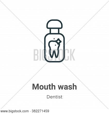 Mouth wash icon isolated on white background from dentist collection. Mouth wash icon trendy and mod