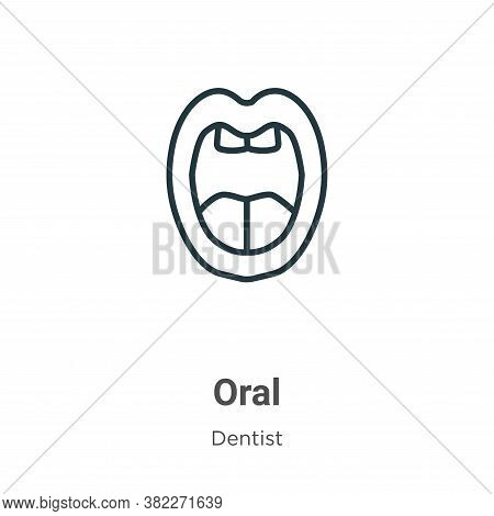 Oral icon isolated on white background from dentist collection. Oral icon trendy and modern Oral sym