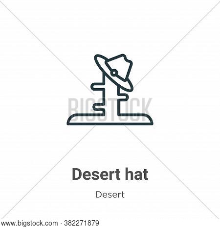 Desert Hat Icon From Desert Collection Isolated On White Background.