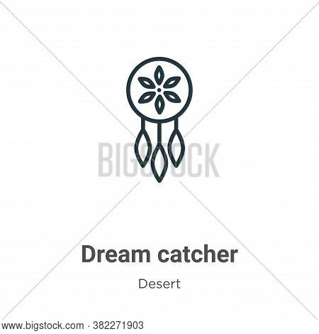 Dream catcher icon isolated on white background from desert collection. Dream catcher icon trendy an