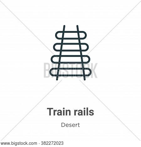 Train rails icon isolated on white background from desert collection. Train rails icon trendy and mo