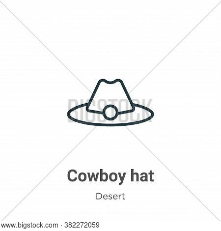 Cowboy hat icon isolated on white background from wild west collection. Cowboy hat icon trendy and m