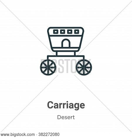 Carriage icon isolated on white background from wild west collection. Carriage icon trendy and moder