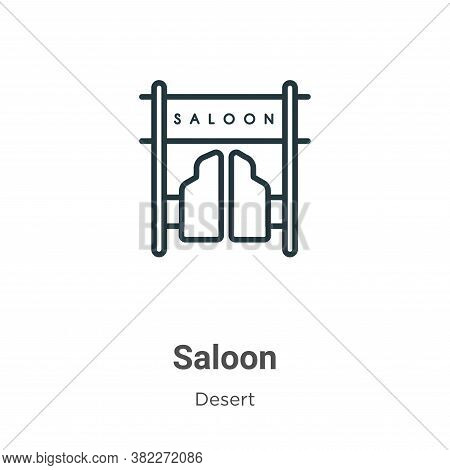 Saloon icon isolated on white background from wild west collection. Saloon icon trendy and modern Sa