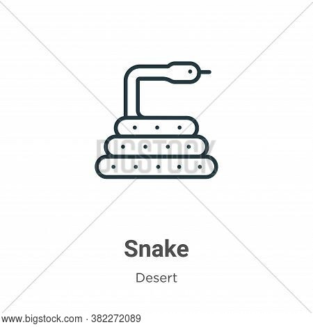 Snake icon isolated on white background from wild west collection. Snake icon trendy and modern Snak