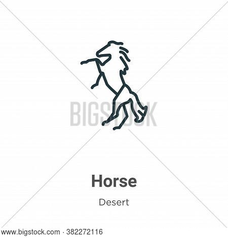 Horse icon isolated on white background from wild west collection. Horse icon trendy and modern Hors
