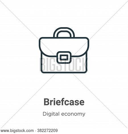Briefcase icon isolated on white background from digital economy collection. Briefcase icon trendy a