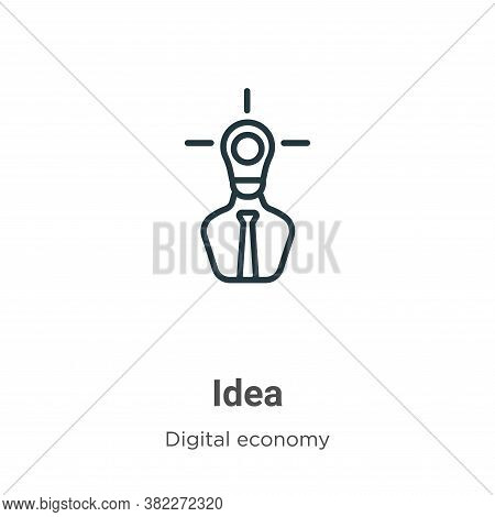 Idea icon isolated on white background from digital economy collection. Idea icon trendy and modern