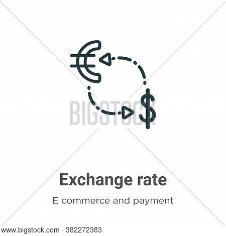 Exchange rate icon isolated on white background from e commerce and payment collection. Exchange rat