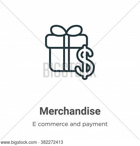Merchandise icon isolated on white background from e commerce and payment collection. Merchandise ic