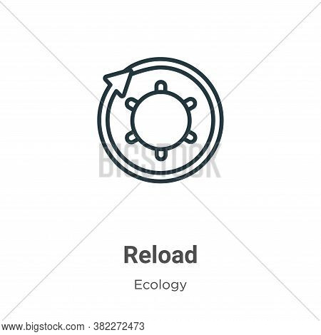 Reload symbol icon isolated on white background from ecology collection. Reload symbol icon trendy a