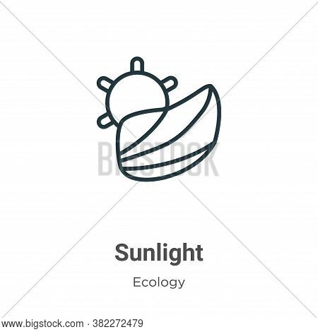 Sunlight icon isolated on white background from ecology collection. Sunlight icon trendy and modern