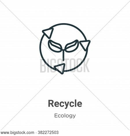 Recycle icon isolated on white background from ecology collection. Recycle icon trendy and modern Re