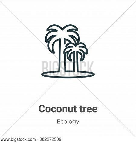 Coconut tree icon isolated on white background from ecology collection. Coconut tree icon trendy and