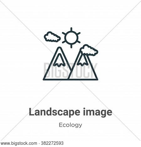 Landscape image icon isolated on white background from ecology collection. Landscape image icon tren