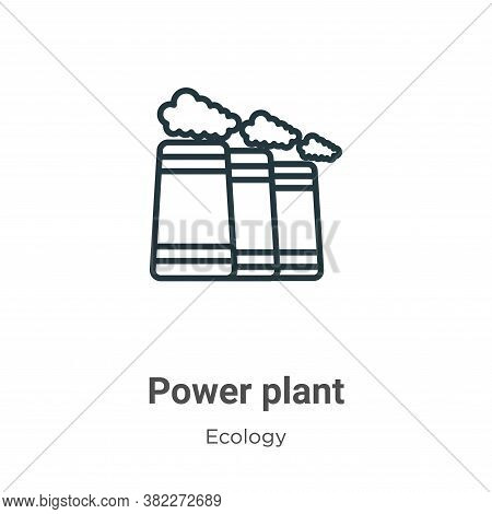 Power plant icon isolated on white background from ecology collection. Power plant icon trendy and m