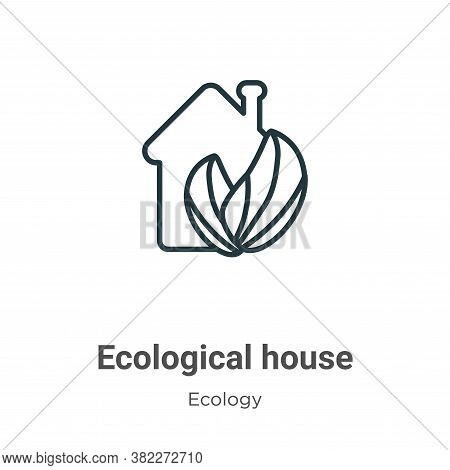 Ecological house icon isolated on white background from ecology collection. Ecological house icon tr