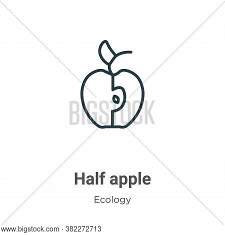 Half apple icon isolated on white background from ecology collection. Half apple icon trendy and mod