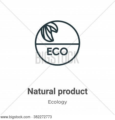 Natural product icon isolated on white background from ecology collection. Natural product icon tren