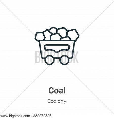 Coal icon isolated on white background from ecology collection. Coal icon trendy and modern Coal sym