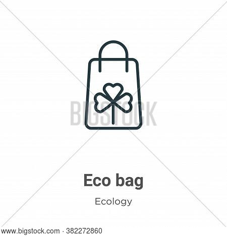 Eco bag icon isolated on white background from ecology collection. Eco bag icon trendy and modern Ec
